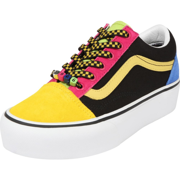 VANS Tenisky pink / černá / žlutá | VANSboty.cz