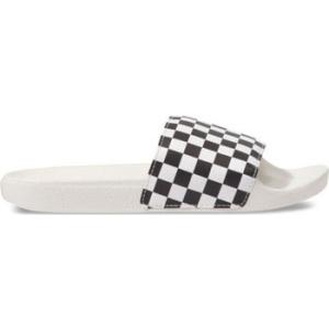 Vans Pantofle Checkerboard Wht/Blk Bílá | VANSboty.cz