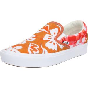 VANS Slip on boty červená / oranžová / bílá | VANSboty.cz